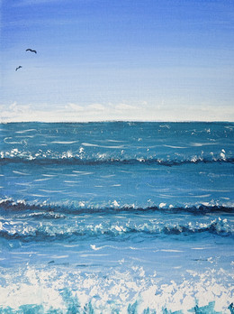 """""""Sea"""" painting course in Tampere"""