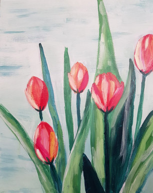 Tulppaanit maalauskurssi Helsingissä
