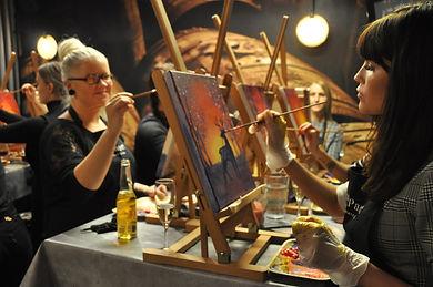 Paint&Wine Helsingissä