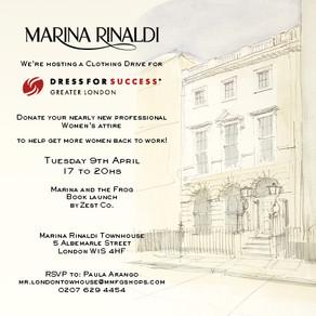 Clothing drive with Marina Rinaldi