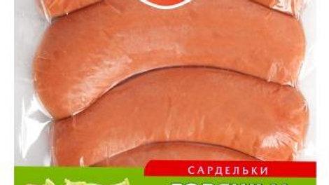 """Сардельки """"Говяжьи Халяль"""" пакет мягкий газ"""