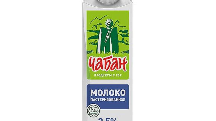 """Молоко 2,5% """"Чабан"""" П/ПАК 900г"""