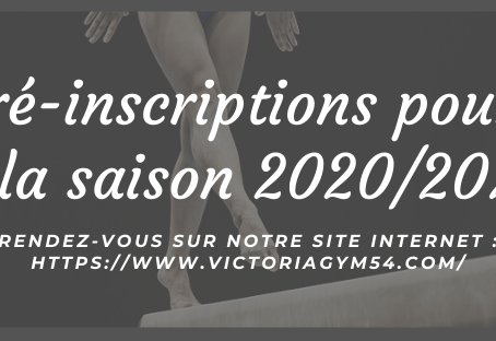 Formulaire de pré-inscriptions. La Victoria, 2020/2021