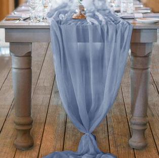 Dusty Blue Table Runner