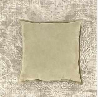 18 In. Light Brown Suede Pillow