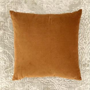 18 In. Burnt Orange Velvet Pillow