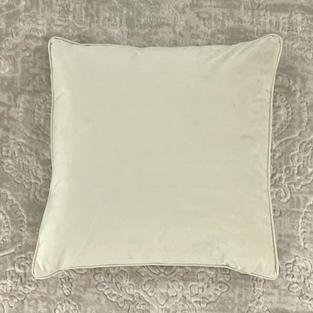 20 In. Cream Velvet Pillow