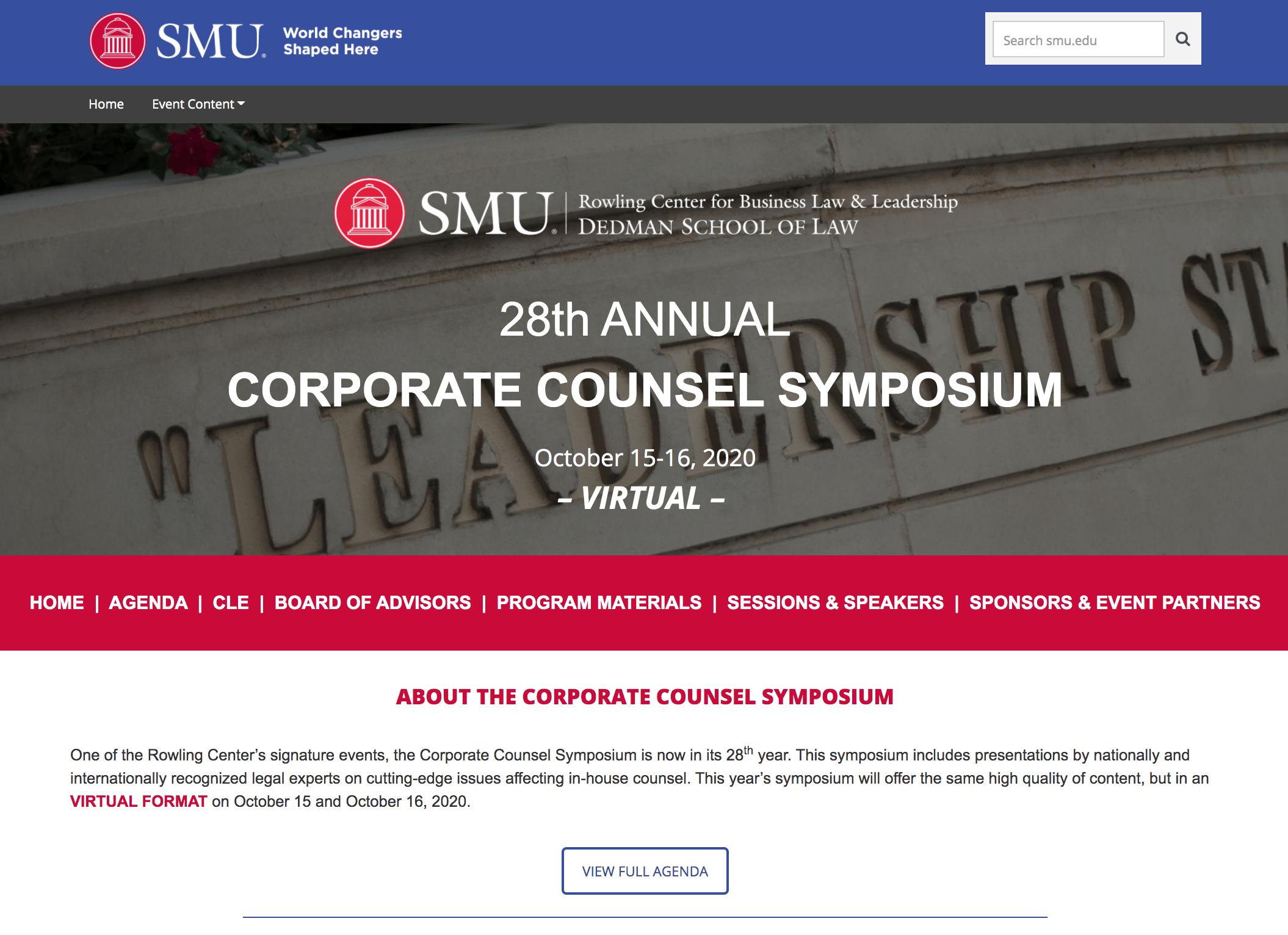 blog.smu.edu/rowling/2020-corporate-counsel-symposium/