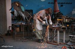 Symposium de sculpture d'ARRAS en Lavedan.      Le Vautour . 2012.