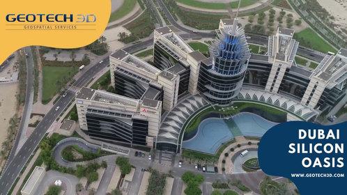 Dubai Silicon Oasis Drone Scene