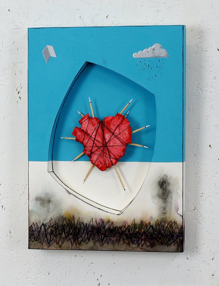 Papier coeur red