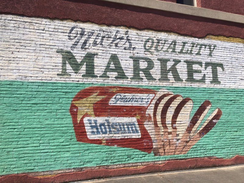 Nicks Market Vintage Sign