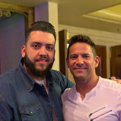 With Jeff Timons from 98 Degrees