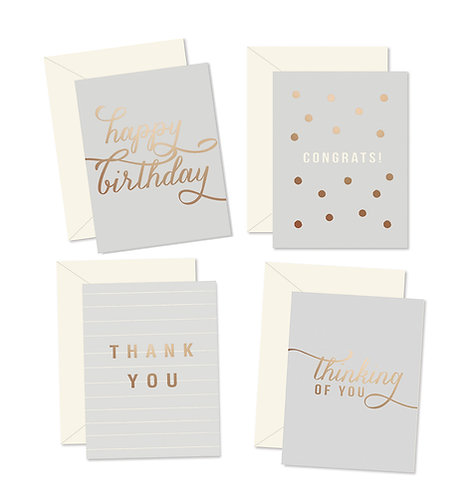 Gray Essential Greeting Card Set