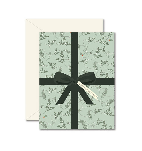 Holiday Mint Present greeting card