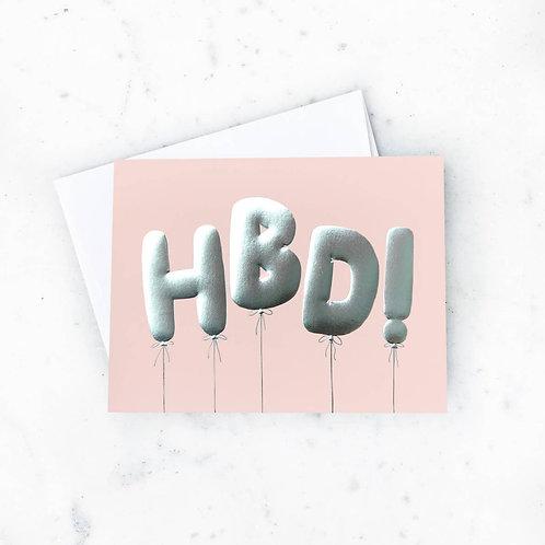 HBD Balloons Card