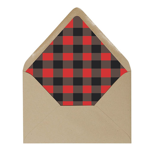 Red Buffalo Plaid Envelope Liner