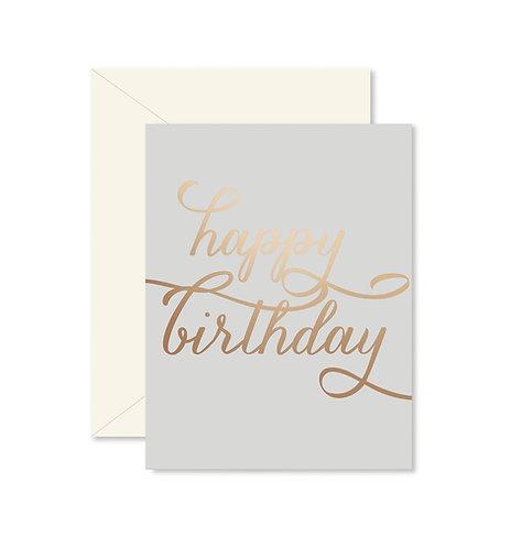Happy Birthday Copper Greeting Card