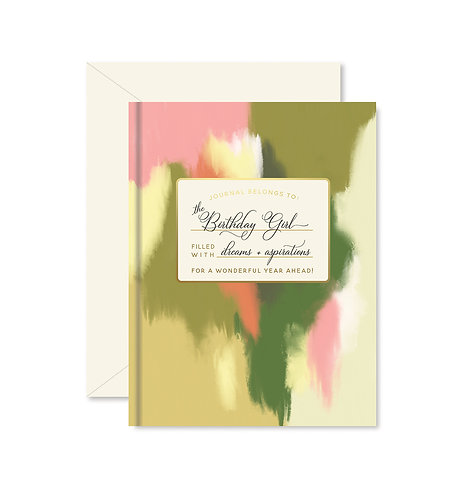 Birthday Girl Journal Greeting Card