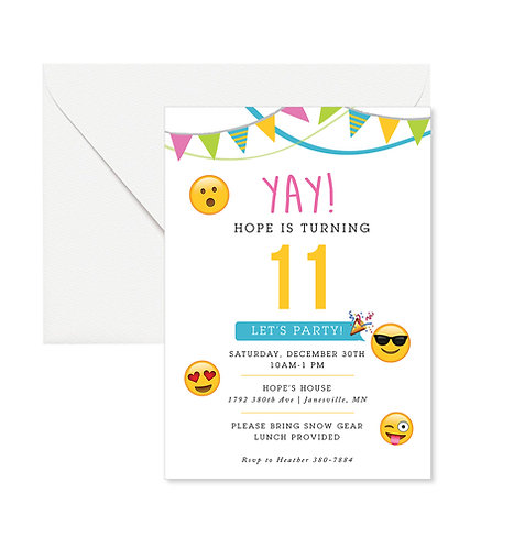 Emoji Birthday Invites
