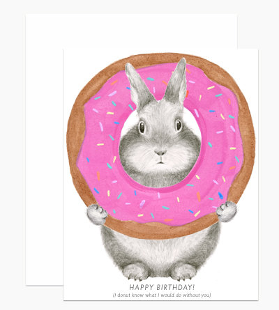 Bunny Donut Greeting Card