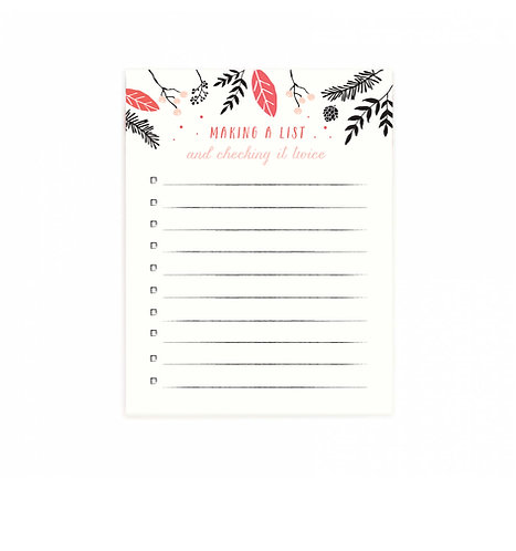 Making a List Notepad