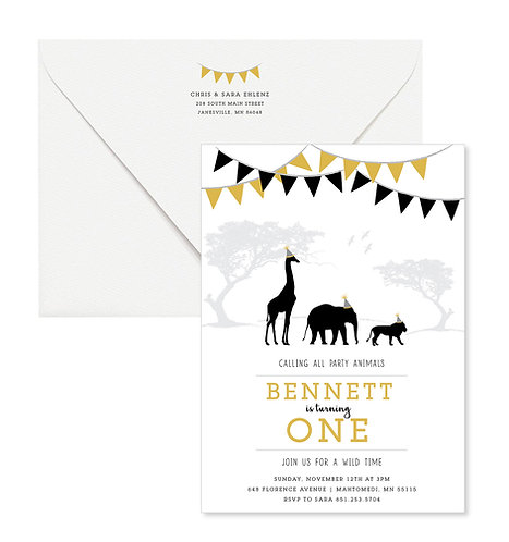 Safari Birthday Invites