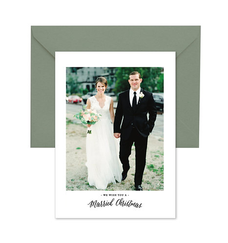 Abbots Married Christmas cards