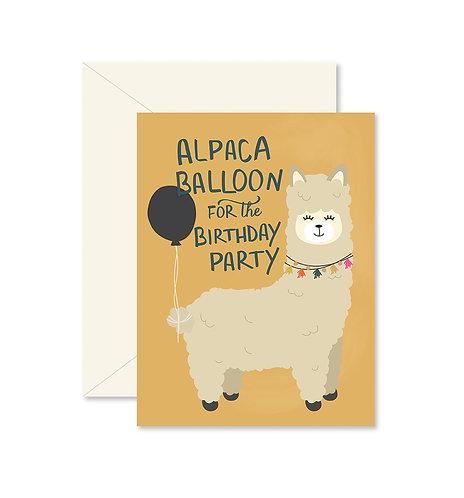 Alpaca Balloon Greeting Card