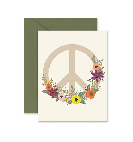 Peace Flower Greeting Card