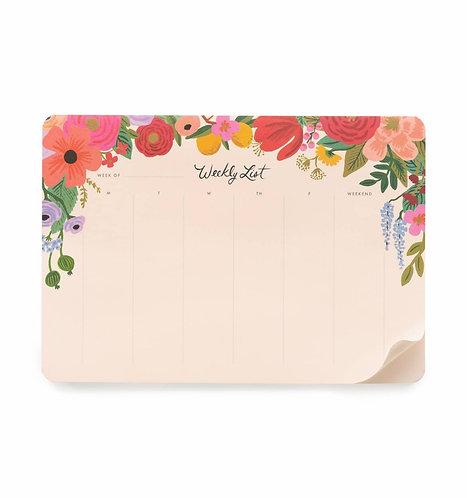 Garden Party Weekly Desk Pad