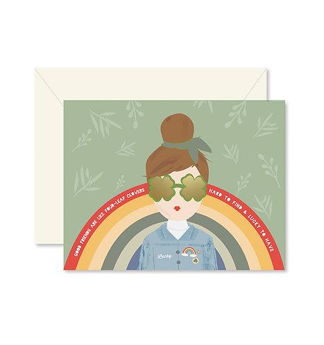 Ginger Girl Lucky Greeting Card
