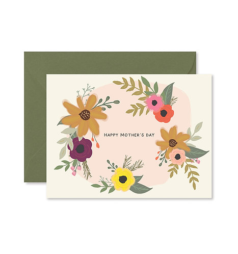 Mothers Day Floral Greeting Card