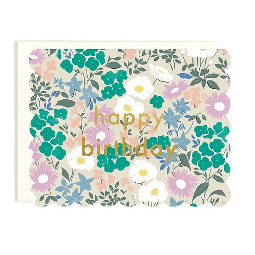 Birthday Scalloped Greeting Card