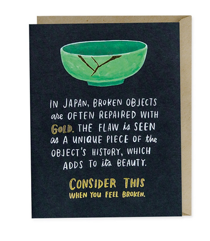 Broken Objects Greeting Card