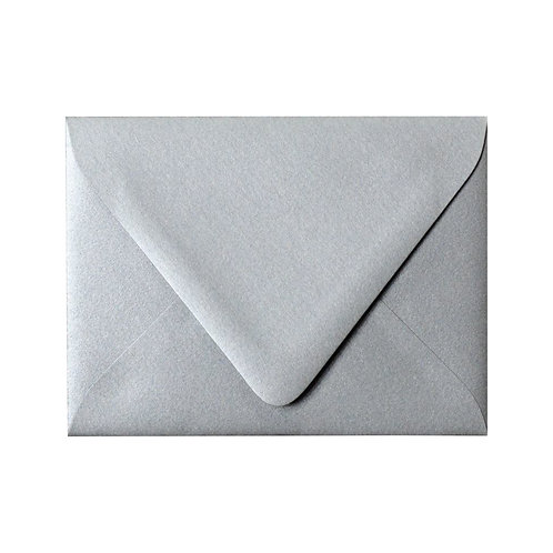 Silver Shimmer Colored Envelope
