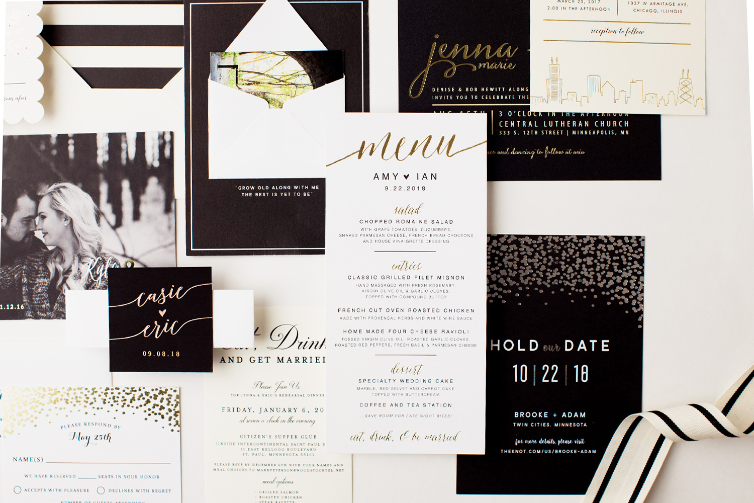 Black and White Invite Spread