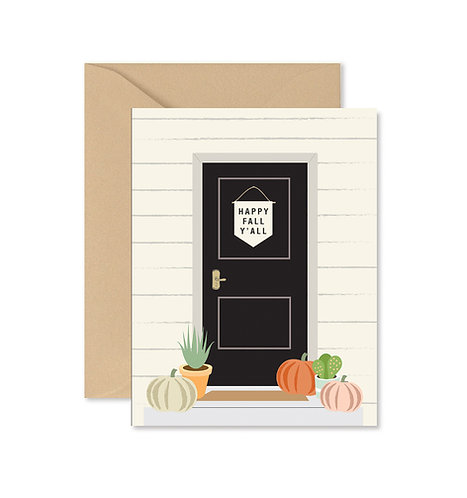 Front Step Fall Y'all Greeting Card