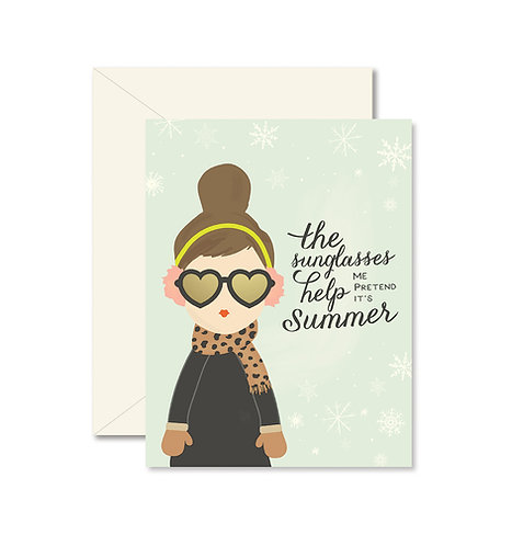 Winter Sunglasses Greeting Card