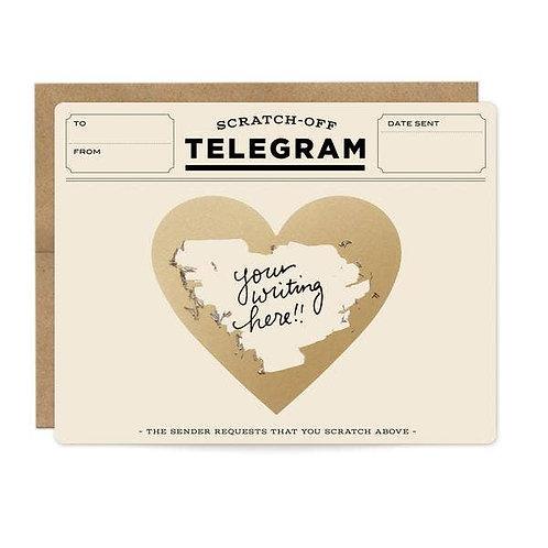 Classic Telegram scratch-off