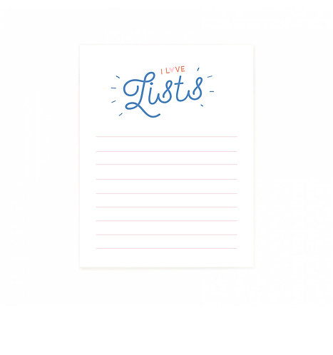 I Love Lists Notepad
