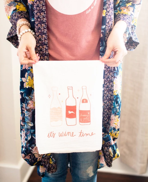 It's Wine Time Flour Sack Towel