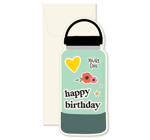 Birthday Water Bottle Greeting Card