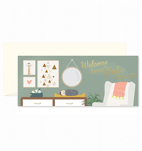 Welcome Home Nursery Greeting Card
