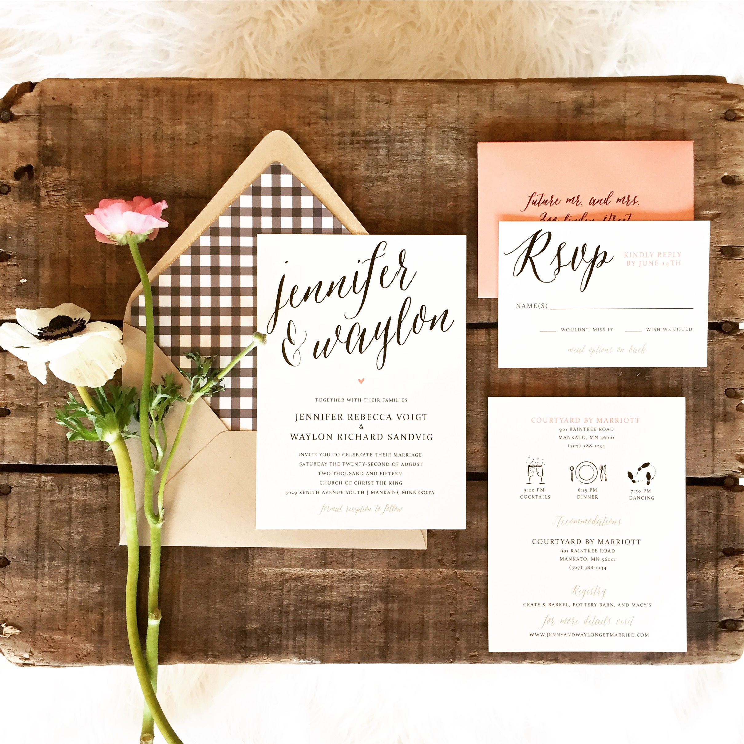 Jennifer and Waylon Invites