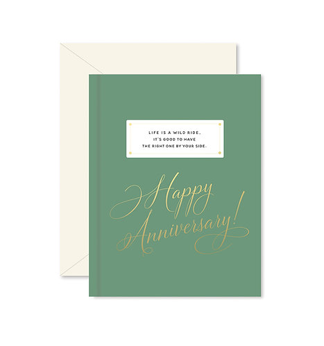 Wild Ride Anniversary Greeting Card