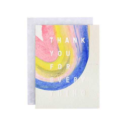Rainbow Thank You boxed set greeting cards