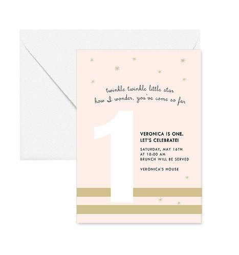 Little Star Birthday Invites