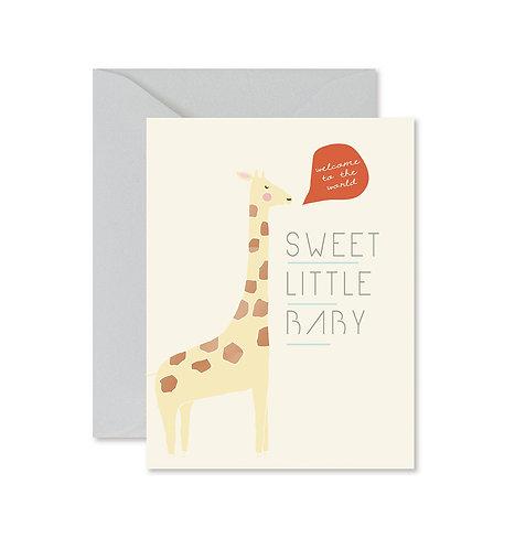 Giraffe Sweet Little One Greeting Card