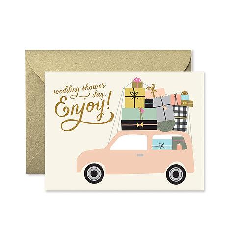 Bridal Shower Car Greeting Card